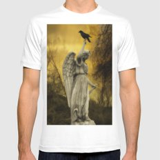 Golden Eclipse White SMALL Mens Fitted Tee