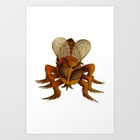 bee Art Prints featuring bee by giol's