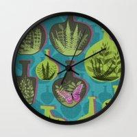 Green Glass Wall Clock
