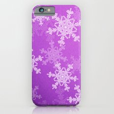 Purple snowflakes iPhone 6s Slim Case