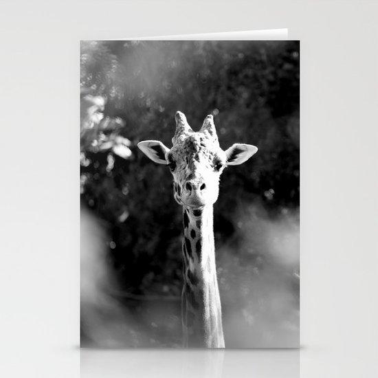portrait of giraffe Stationery Card