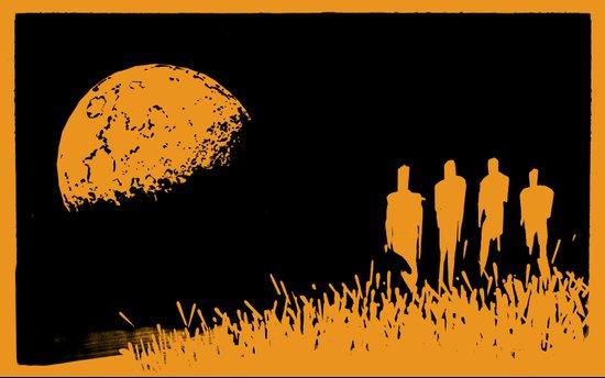 """New Moon"" by Justin Hopkins (Black Version) Art Print"