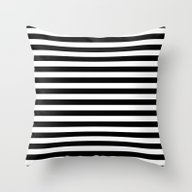 Modern Black White Strip… Throw Pillow