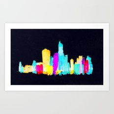 Colour City Art Print