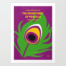 No498 My Priscilla Queen of the Desert minimal movie poster Art Print