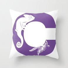 C is for Chameleon - Animal Alphabet Series Throw Pillow
