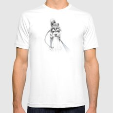 Perseverance :: A Siberian Husky SMALL Mens Fitted Tee White