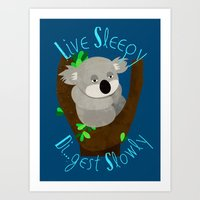 Live Sleep, Die...Digest… Art Print