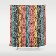 Shower Curtain featuring Artisan by Pom Graphic Design