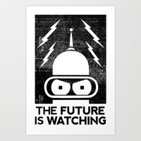 The Future Is Watching Art Print