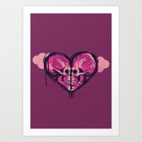 Love Skulls Redux Art Print