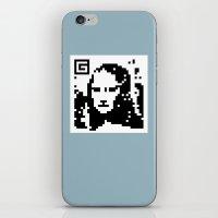 QR- Monalisa iPhone & iPod Skin