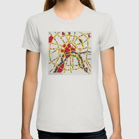BOOGIE WOOGIE MOSCOW Womens Fitted Tee Silver SMALL