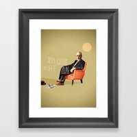 Flying Too Close To The … Framed Art Print