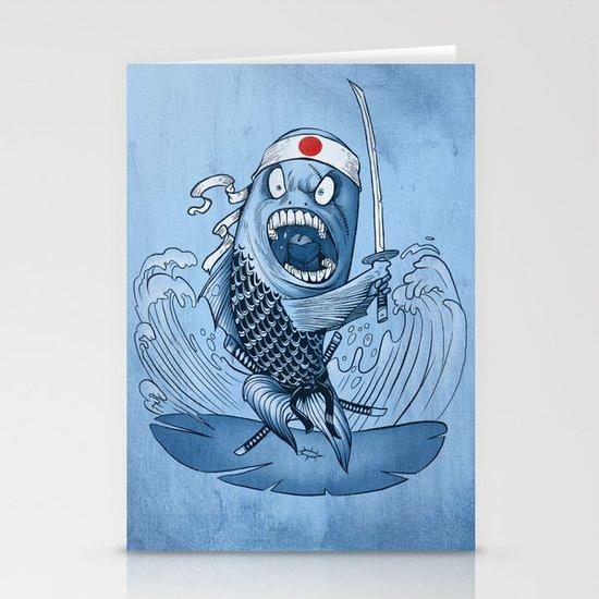 Samurai sushi Stationery Card