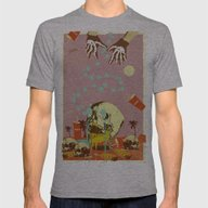SUMMER SEANCE Mens Fitted Tee Athletic Grey SMALL
