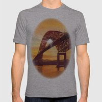 Pan-American Bridge Mens Fitted Tee Athletic Grey SMALL