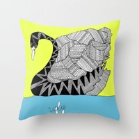 Ugly Swan Throw Pillow