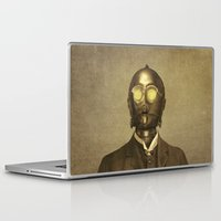 yellow Laptop & iPad Skins featuring Baron Von Three PO  by Terry Fan