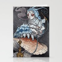 Absolem The Blue Caterpi… Stationery Cards