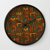 Wall Clock featuring African by Arcturus