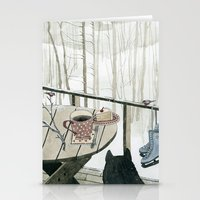 Winter Breakfast On The … Stationery Cards