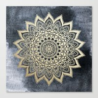 BOHO NIGHTS MANDALA Canvas Print