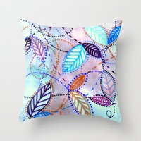 trajectories Throw Pillow