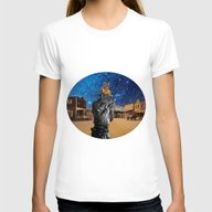 Western Womens Fitted Tee White SMALL