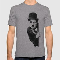 MR CHAPLIN Mens Fitted Tee Athletic Grey SMALL