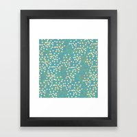 Dots And Rings-Blue Framed Art Print
