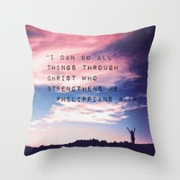 Philippians 4:13 In Natu… Throw Pillow
