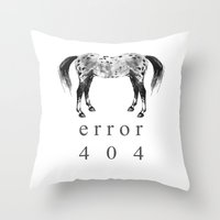 ERROR 404 Throw Pillow