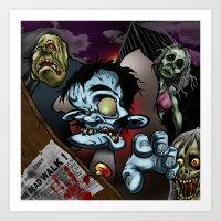 The Dead Walk Art Print