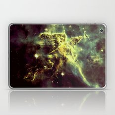 Galaxy Nebula Golden Green Laptop & iPad Skin