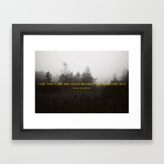 I Like This Place Framed Art Print