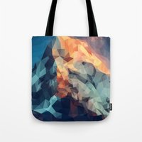 Mountain low poly Tote Bag