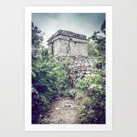Ancient Mayan Ruin Art Print