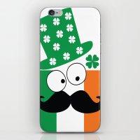Irish Mustache Man St.Pa… iPhone & iPod Skin