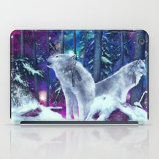 White Wolf In The Forest iPad Case
