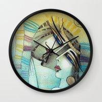 LES MOTS BLEUS Wall Clock