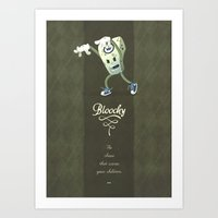 Bloochy Art Print
