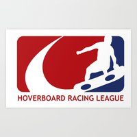 Hoverboard Racing League Art Print