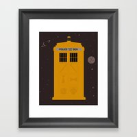 The Tardis Got Some Ink Framed Art Print