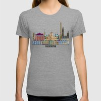 Washington Dc  Womens Fitted Tee Tri-Grey SMALL
