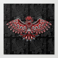 Eagle Tattoo Style Haida… Canvas Print