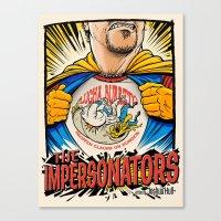 The Impersonators Teaser Poster Canvas Print