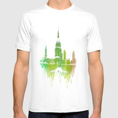 St Pauls Cathedral London White SMALL Mens Fitted Tee