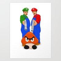 Super Bundock Bros Art Print