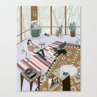 Sisters Room Canvas Print